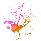 Watercolor splashes on the white. — Stock Photo