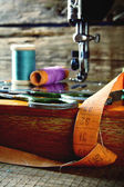 The sewing machine and tools. — Stock Photo