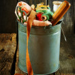 Bucket with tools for sewing. — Stock Photo