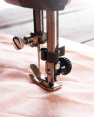 The sewing machine close-up. — Stock Photo
