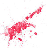Watercolor splashes on the white. — Stock Photo