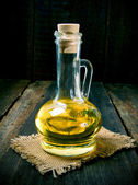 Olive oil in a vessel. — Stock Photo
