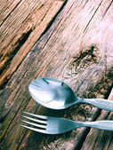 Spoon and fork. — Stock Photo