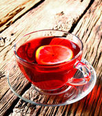 Pomegranate tea. — Stock Photo