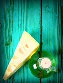 Oil and cheese. — Stock Photo