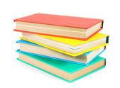 Multi-coloured books. On white background. — Stock Photo