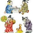 Stock Photo: Cartoon Chinese icon set