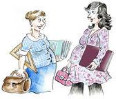 беременные женщины встреча — Стоковое фото