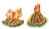Touristic campfires set 2 — Stock Photo