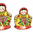 Matreshka russian dolls set — Stock Photo