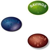 Savings — Stock Vector