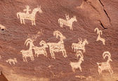 Ute Petroglyphs in Arches National Park — Stock Photo