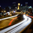 Downtown Minneapolis Minnesota at Night — Stock Photo