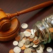 Stock Photo: Legal coins