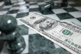 Money chess — Stock Photo