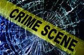 Escena del crimen ventana rota — Foto de Stock