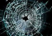 Kırık pencere — Stok fotoğraf
