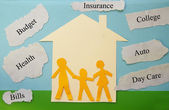 予算の家族 — ストック写真