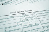 Soc Sec benefits — Stock Photo