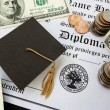 Stock Photo: Graduation money