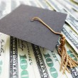 Stock Photo: Mortar board cash