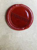 Verified wax stamp — Stock Photo
