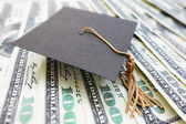 Mortar board cash — Stock Photo