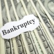 Stock Photo: Bankruptcy headline