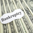 Bankruptcy headline — Stock Photo