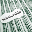 Stock Photo: Scholarship money