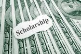 Scholarship money — Stock Photo