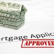 Foto Stock: Mortgage app approval