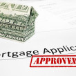 图库照片: Mortgage app approval