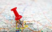 Austin map — Stock Photo