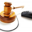 Mouse and court gavel — Stock Photo #9322887