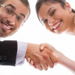 Happy handshake and teamwork — Stock Photo #12625659