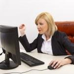 Confident busy female executive — Stock Photo