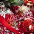 Red Christmas decoration details — Stock Photo #14620909
