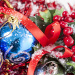 Red Christmas berries decoration — Stock fotografie