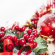 Stock Photo: Holly Berries Christmas decoration