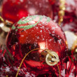 Red Christmas decoration — Stock fotografie #14620917