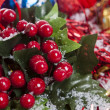 Holly Berries Christmas decoration — Stock Photo