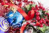 Red Christmas berries decoration — Stock Photo