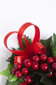 Christmas wreath of red berries — Stock Photo