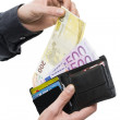 European currency payment — Stock Photo