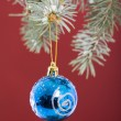 Christmas bauble decoration — Stock Photo