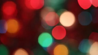 De-focused colorful glimmering lights — Stock Video