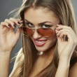 Stock Photo: Chic, flirty and sunglasses