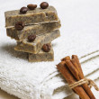 Stock Photo: Handmade flavored soap bars