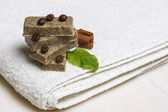 Homemade aromatic soap bars — Stock Photo